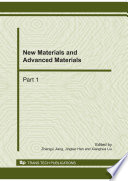 New Materials And Advanced Materials Book PDF