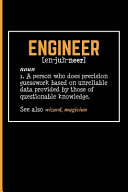 Engineer [En-Juh-Neer] Noun 1. a Person Who Does Precision Guesswork
