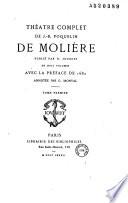 Théâtre complet de J.-B. Poquelin de Molière