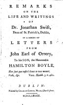 Remarks on the Life and Writings of Dr  Jonathan Swift