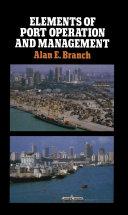 Elements of Port Operation and Management [Pdf/ePub] eBook