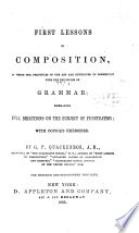 First Lessons in Composition in Connection with the Principles of Grammar