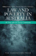 Cover of Law and Poverty in Australia