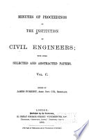 Minutes of Proceedings of the Institution of Civil Engineers Book