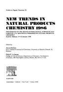New Trends in Natural Products Chemistry 1986 Book