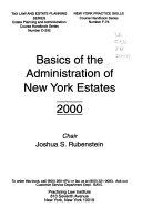 Basics of the Administration of New York Estates