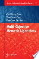 Multi Objective Memetic Algorithms