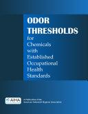 Pdf Odor Thresholds for Chemicals with Established Occupational Health Standards