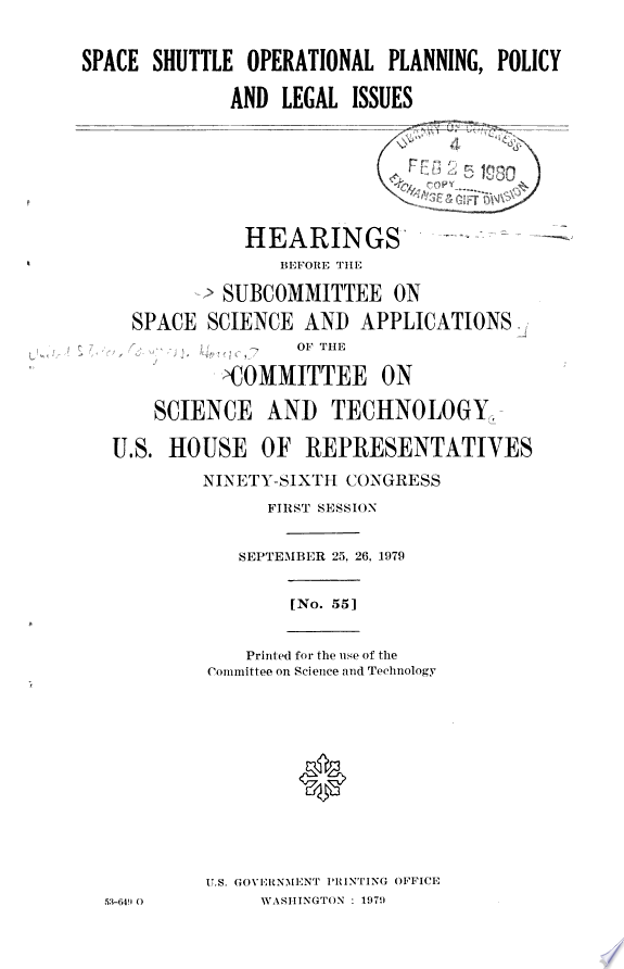 Space Shuttle Operational Planning  Policy  and Legal Issues