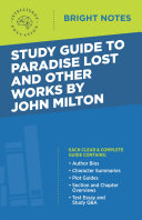 Pdf Study Guide to Paradise Lost and Other Works by John Milton Telecharger