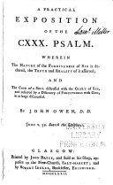 A practical exposition of the CXXX. psalm