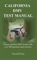California Dmv Test Manual
