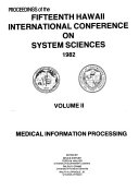 Proceedings of the Fifteenth Hawaii International Conference on System Sciences 1982 Book