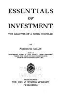 Essentials of Investment Book