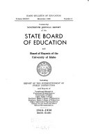 Biennial Report of the Idaho State Board of Education and the State Superintendent of Public Instruction for the Biennium