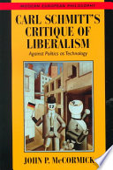 Carl Schmitt S Critique Of Liberalism