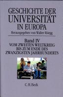 Geschichte der Universität in Europa - Band 4