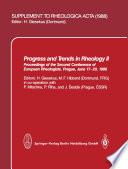 Progress and Trends in Rheology II Book