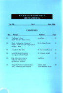 Journal of Research  humanities