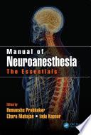 Manual of Neuroanesthesia Book