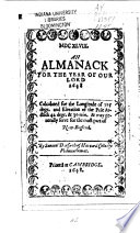 An Almanack For The Year Of Our Lord 1648