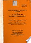 John Mitchell Kemble's Review of Jakob Grimm's Deutsche Grammatik