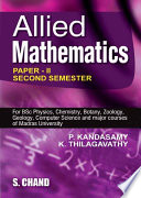 Allied Mathematics Vol Ii