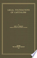 Legal Foundations of Capitalism Book