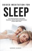 Meditation for Deep Sleep Book