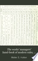 The Works Managers Hand Book Of Modern Rules Tables And Data For Civil And Mechanical Engineers Etc