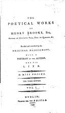 The Poetical Works of Henry Brooke, Esq. ... ebook