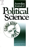 Australian Journal of Political Science