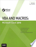 VBA and Macros  : Microsoft Excel 2010
