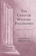 The Crisis of Western Philosophy Pdf/ePub eBook