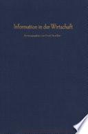 Information in der Wirtschaft