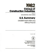 1982 Census of Construction Industries