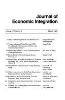 Journal of Economic Integration Book