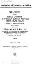 Investigation of Lobbying Activities