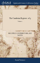 The Cambrian Register. of 3; Volume 1