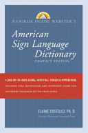 American Sign Language Dictionary Book
