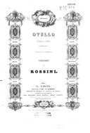 Otello, ou le More de Venise, Opéra en trois actes