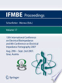 13th International Conference on Electrical Bioimpedance and 8th Conference on Electrical Impedance Tomography 2007 Book