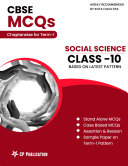CBSE MCQs Chapterwise For Term I  Class 10  Social Science