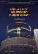Popular Support For Democracy In Unified Germany