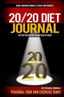 20 20 Diet Journal Book