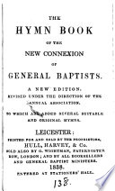 The Hymn Book Of The New Connexion Of General Baptists