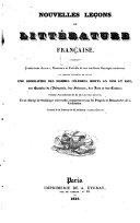 Nouvelles lecons de litterature francaise