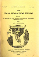 The Indian Geographical Journal