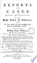Reports of Cases Argued and Determined in the High Court of Chancery Book PDF