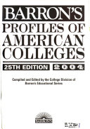Barron s Profiles of American Colleges Book